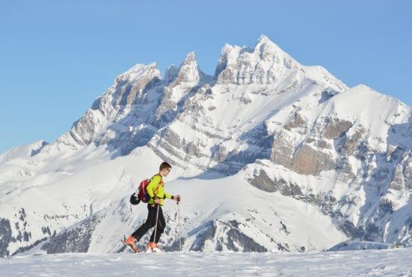 ski touring in Avoriaz