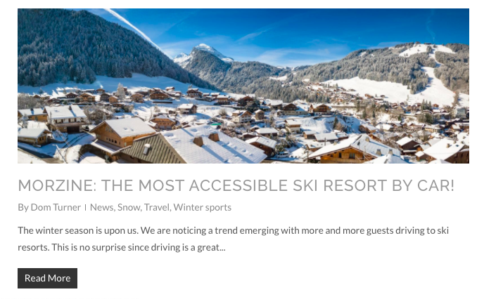 Morzine: The mosy avessible ski resort by car