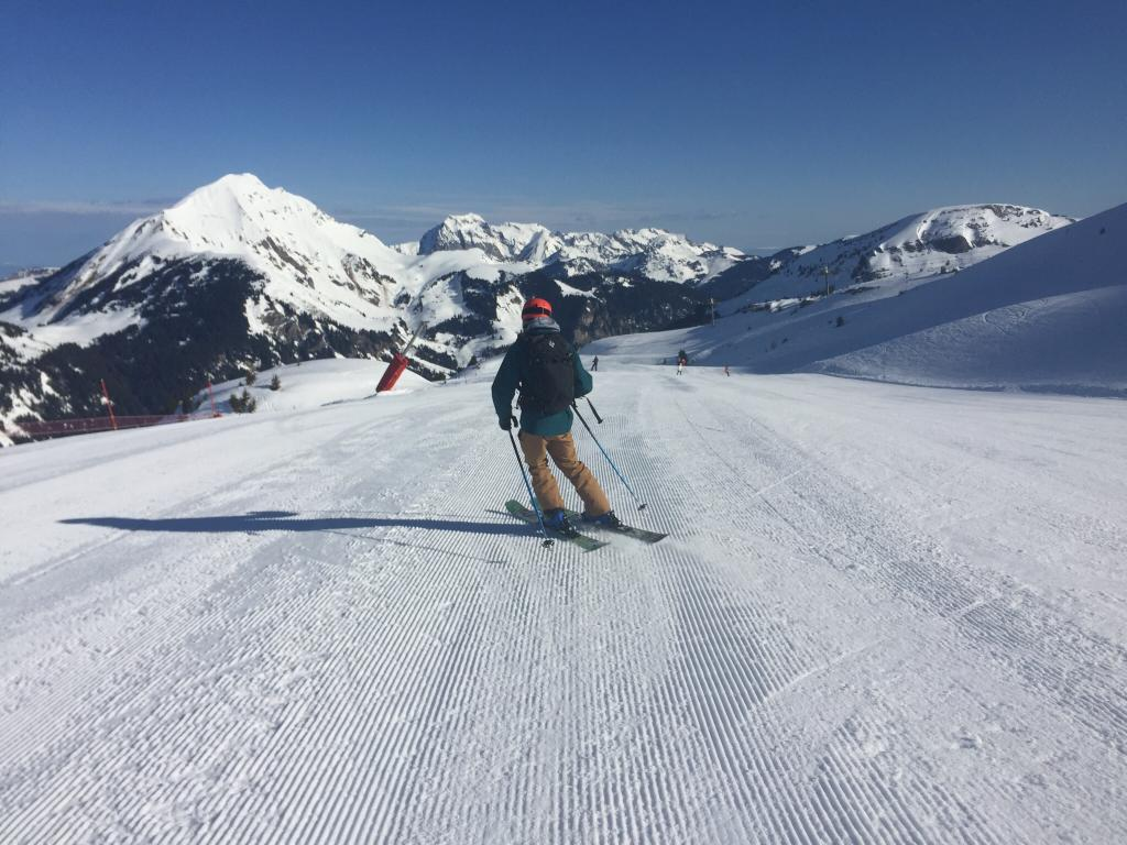 Skiing in March