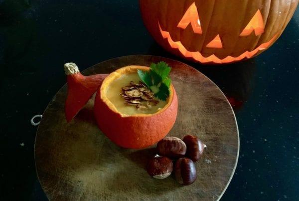 Skiology pumpkin guts soup!