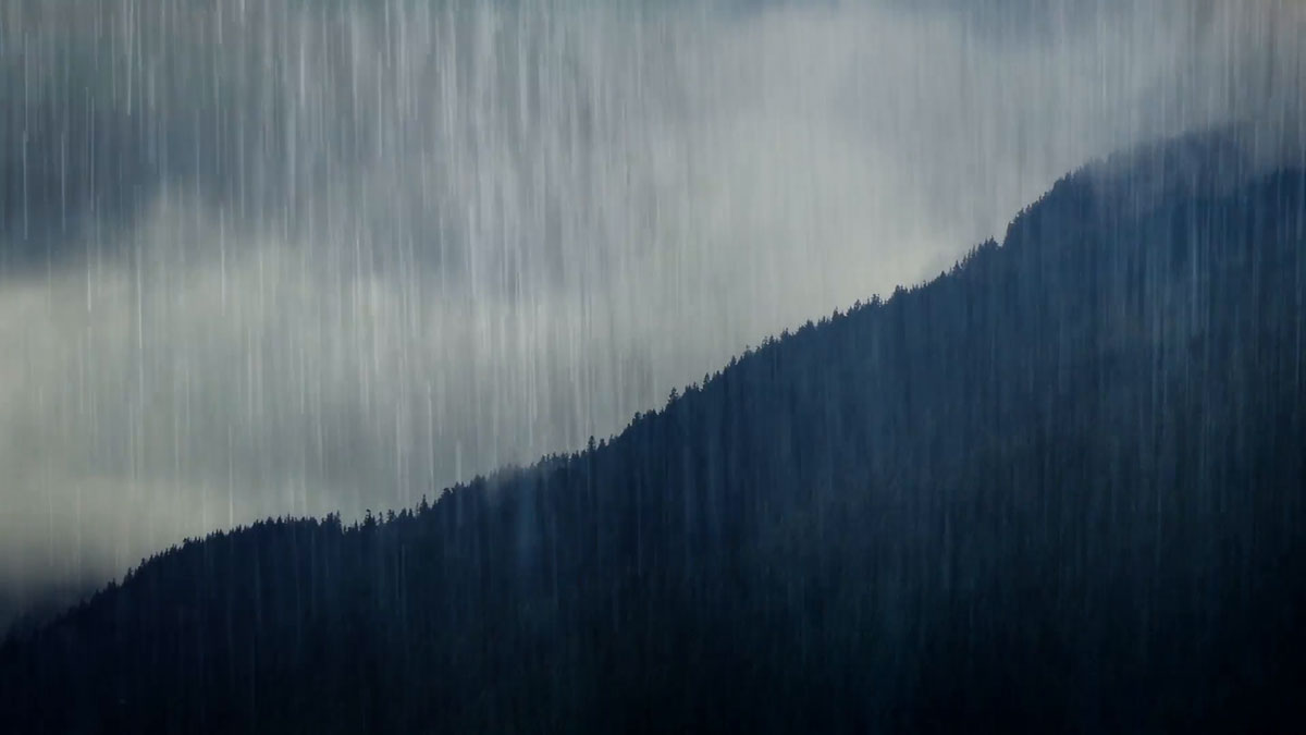 Rain in Morzine