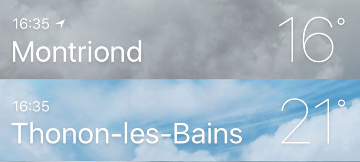 Forecast with different weather in different valleys
