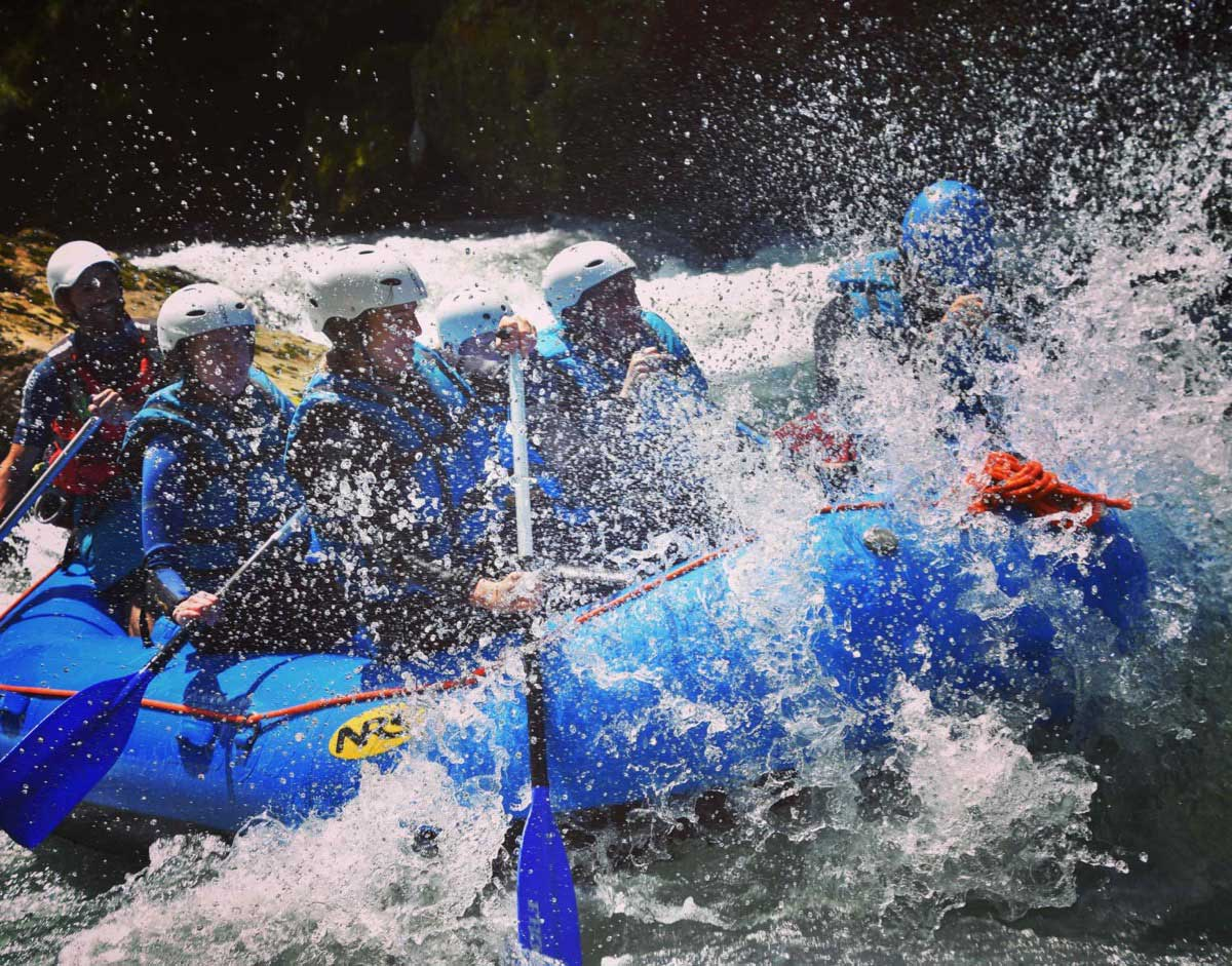 White water rafting in Morzine on the river Dranse